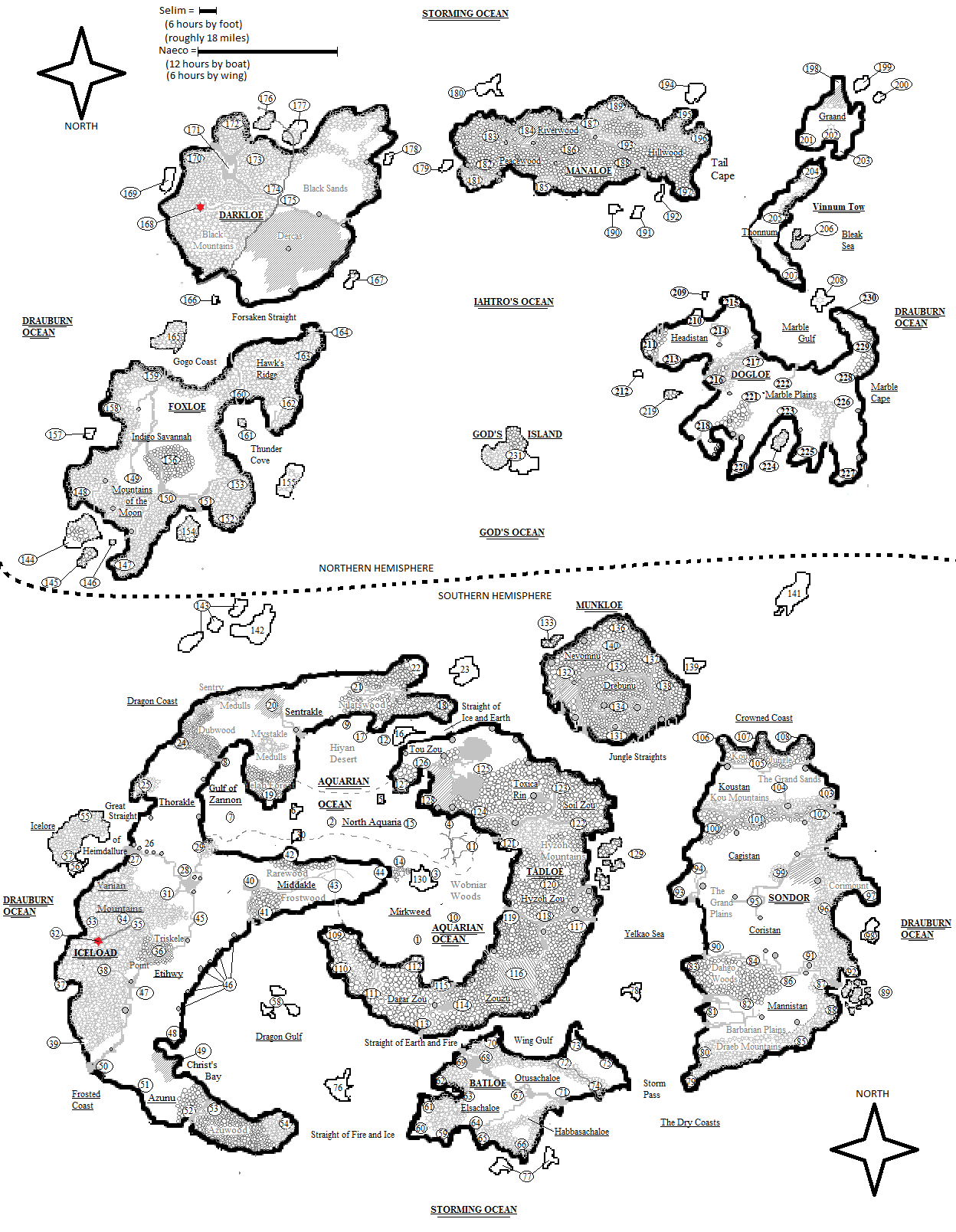 Don't mind the ridiculous Northern/Southern Hemipshere design, what can I say? It was created by a Knome.